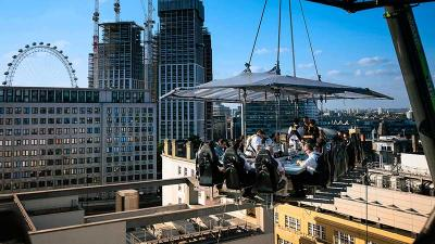 Let it all hang out with a naked brunch 100 foot up beside the O2