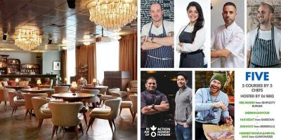 Join a brigade of top chefs at the Action Against Hunger dinner at White City House