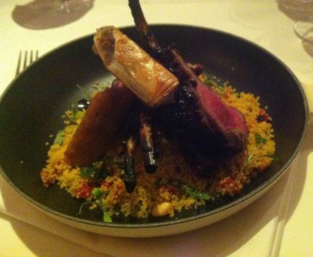 brasserie chavot rack of lamb with couscous