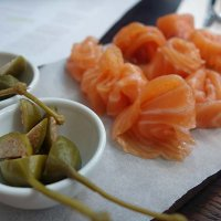 Smoked salmon from Hansen and Lydersen