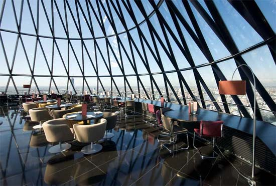The Restaurant At The Gherkin Opens To The Public For The