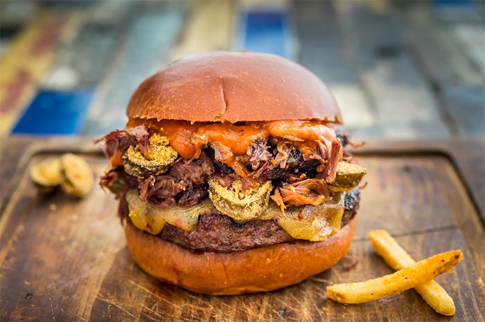 Blues Kitchen launches Face Melter burger with the Rib Man