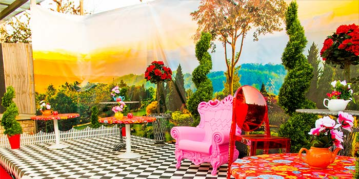 Proud Camden gets an Alice in Wonderland themed roof terrace