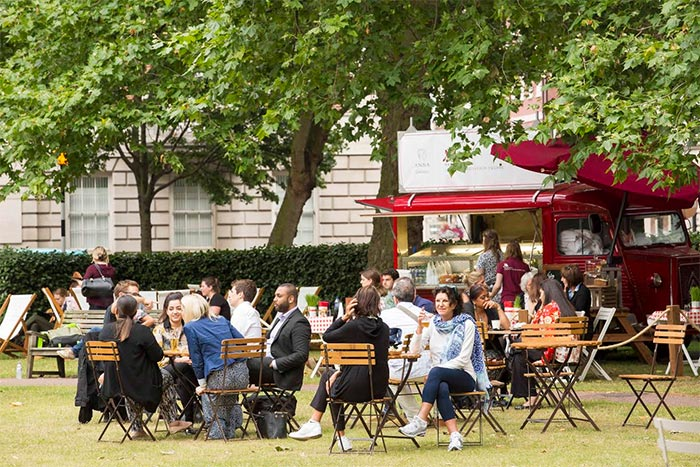 Summer in the Square sees restaurants and bars take over Grosvenor Square