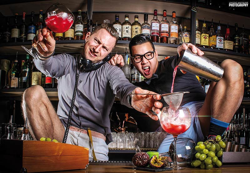 The bartenders in their pants from Le Calbar in Paris are coming to London