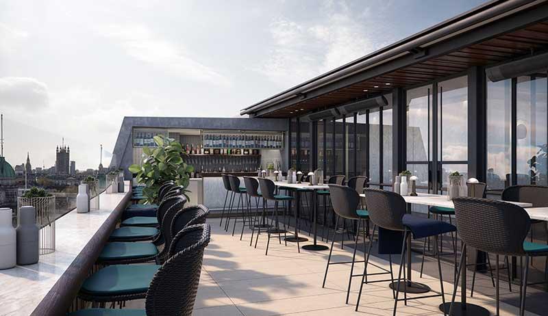 Hilton Hotel Rooftop Bar London