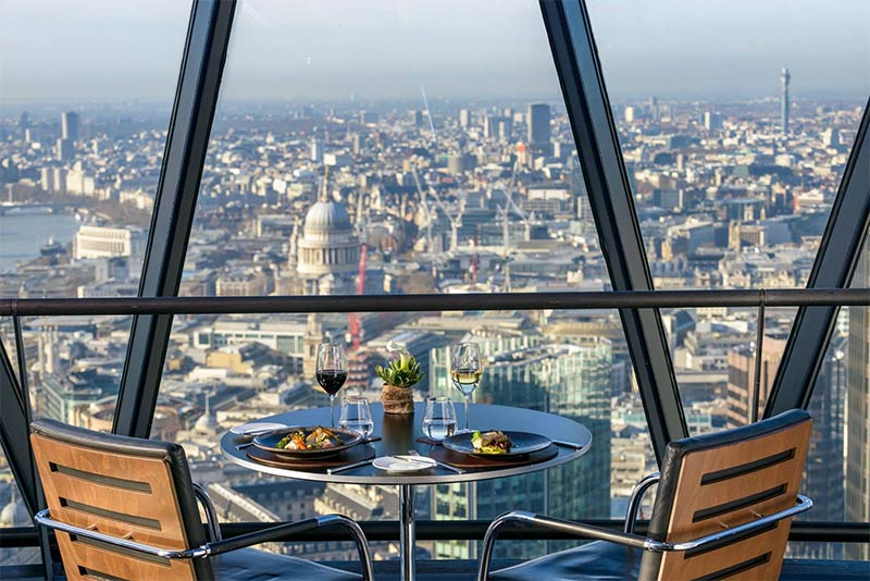 Helix restaurant and Iris bar at the Gherkin are London's latest high-rise drinking and dining spots