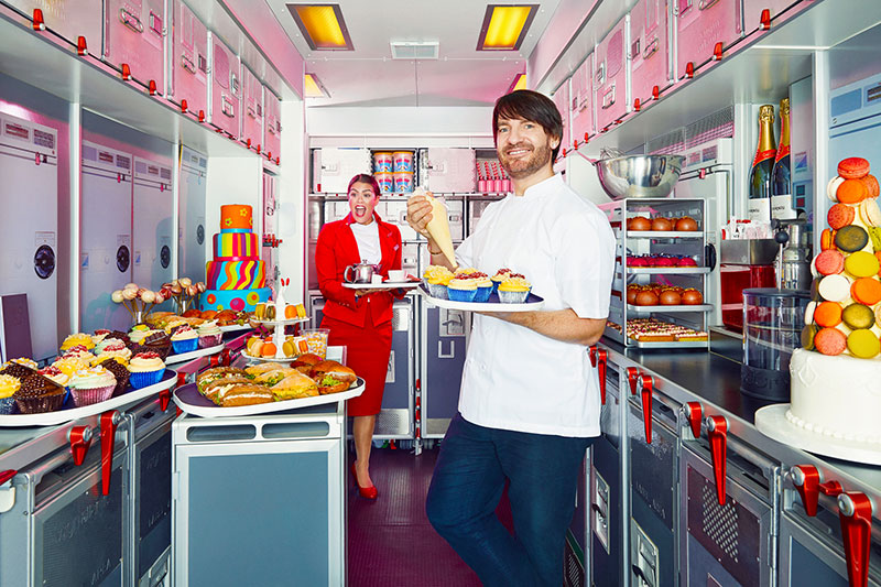 Eric Lanlard is putting on a mile-high afternoon tea for Virgin Atlantic