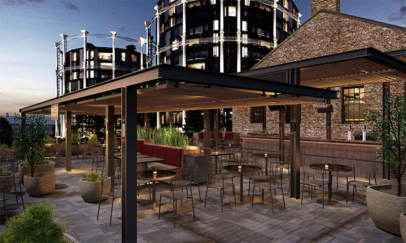 Parrillan is the outside grill expansion for Barrafina Coal Drops Yard