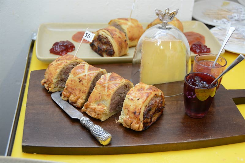 Roll up, roll up, to Barnes' Red Lion for the Great Sausage Roll Off