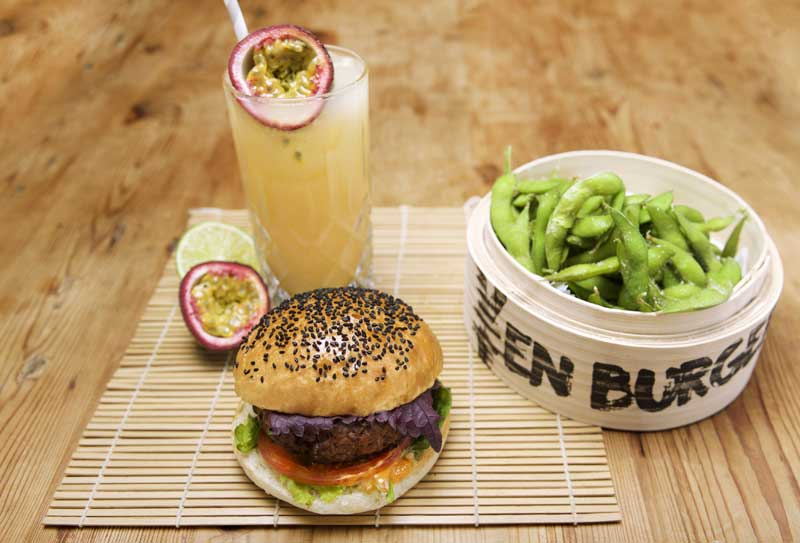 At Borough's Yen Burger, swap your burger cheese for kimchi and shiso