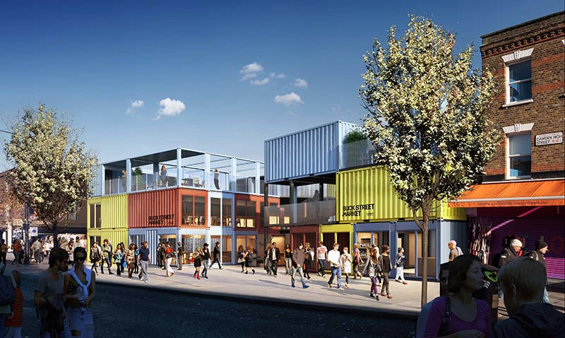 Buck Street Market is a new container village for Camden