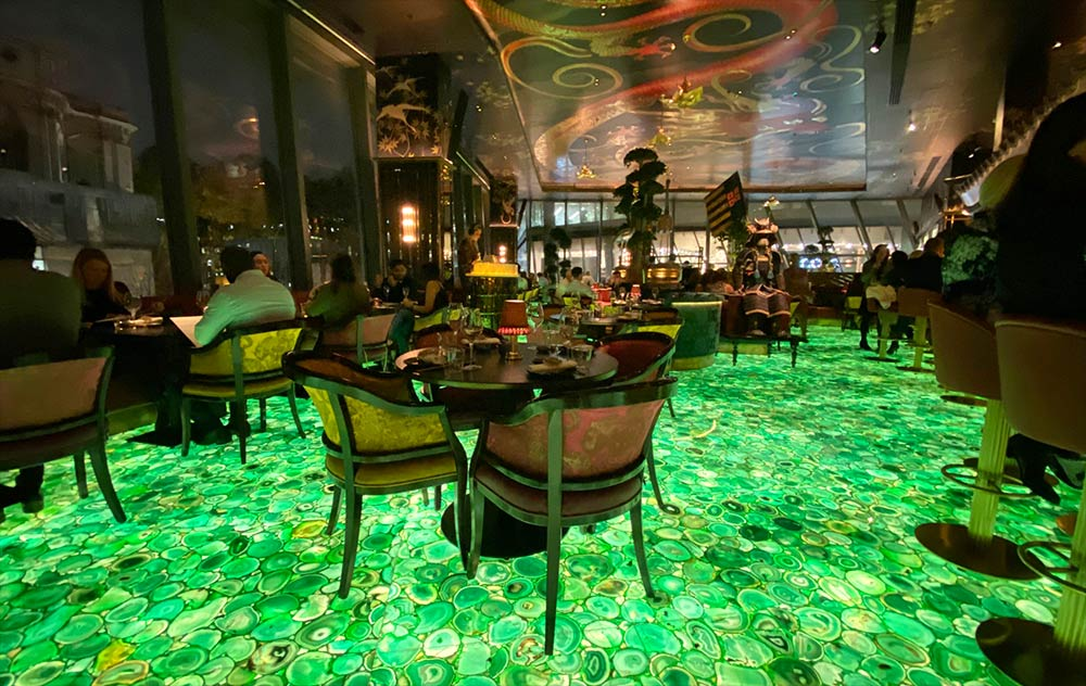 The Ivy Asia sees the group taking over from Janie Oliver's Barbecoa in St Paul's. And they've gone BIG, We head onto their glowing floor to check it out.