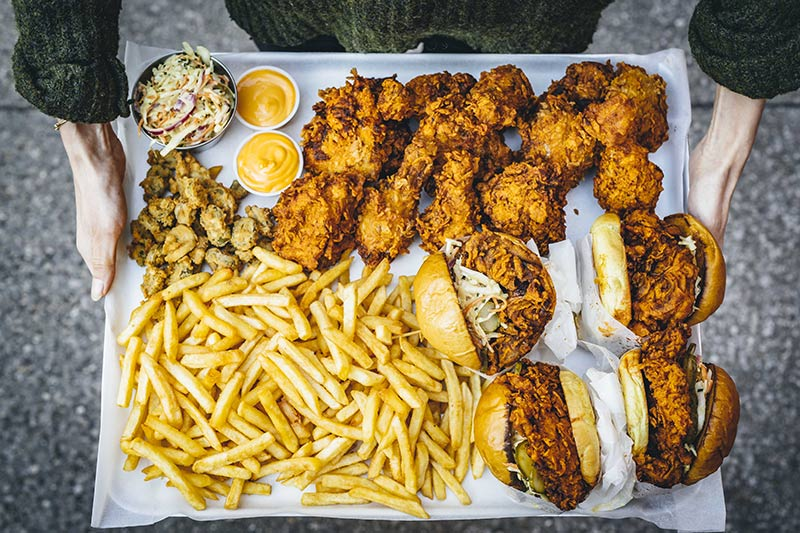 Louie's is a Nashville red-hot chicken restaurant from Red Dog in Hoxton