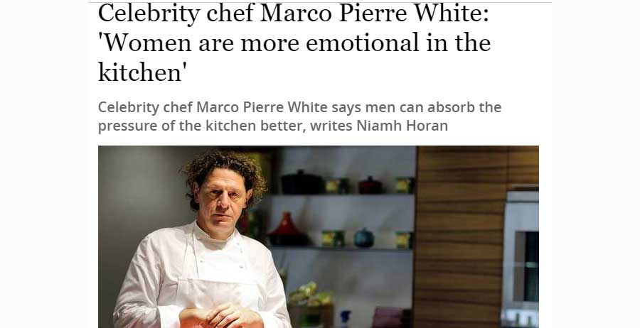 London's restaurant folk react to Marco Pierre White on women in kitchens