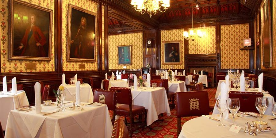 The Peers' Dining Room is open again if you fancy dining like a lord
