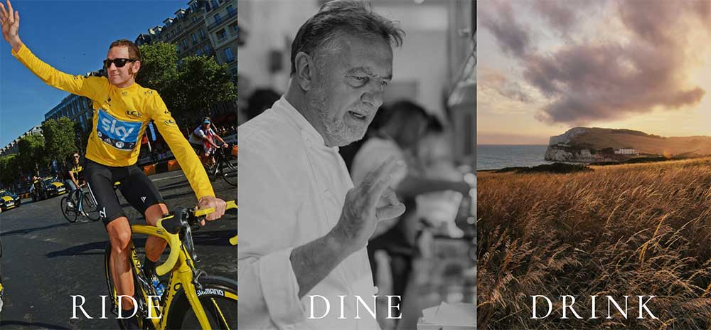 leblanq cycling tour features bradley wiggins and raymond blanc