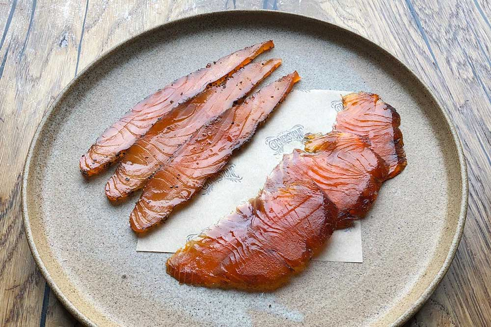cornerstone selling its own cured fish