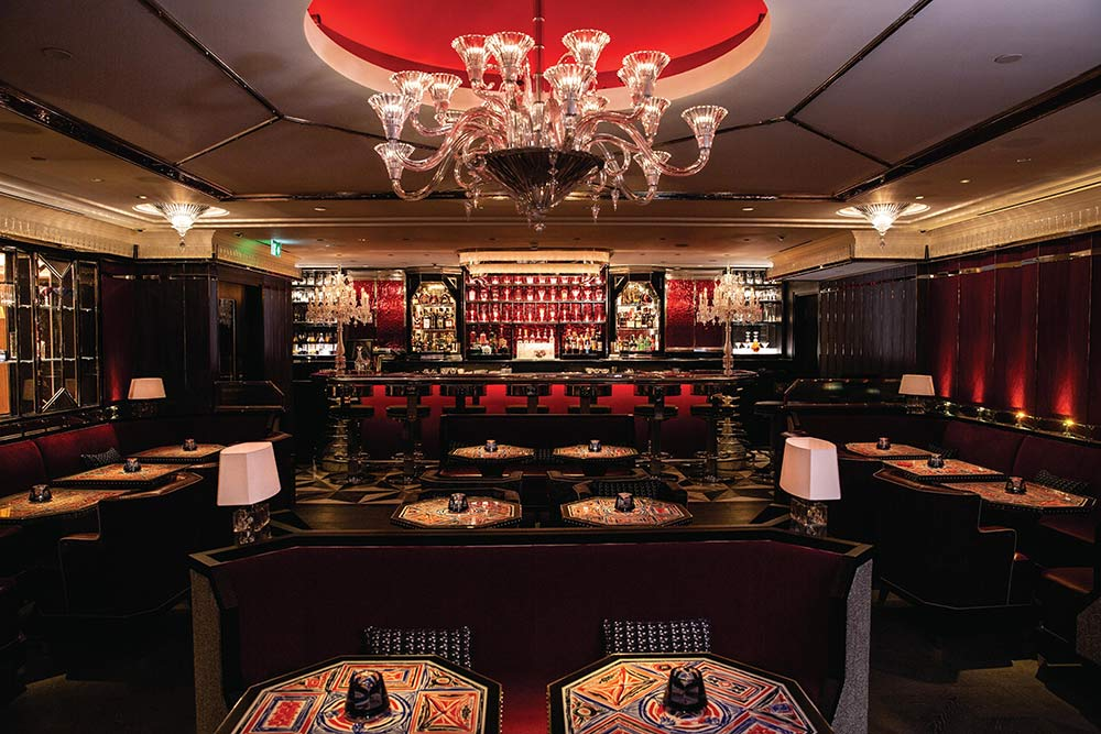 baccarat bar at harrods