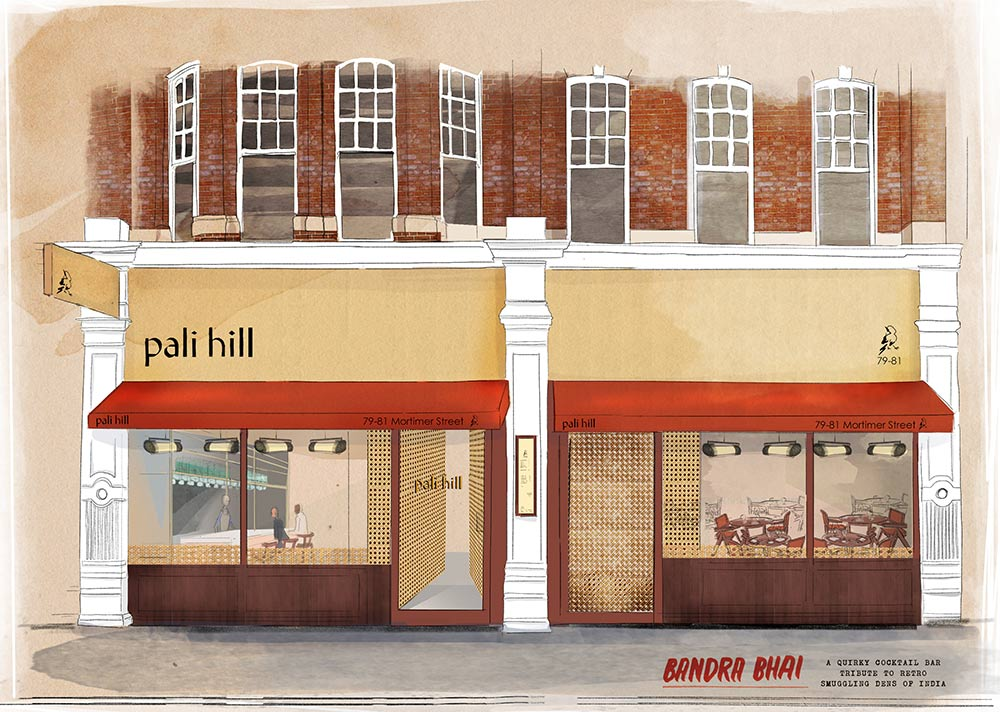 Pali Hill and Bandra Bhai come to Fitzrovia, offering seasonal small plates and cocktails in the old Gaylord space