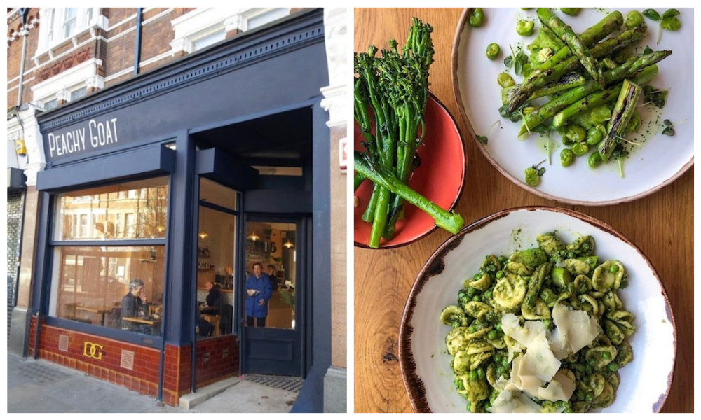 Peachy Goat vegan cafe and restaurant Herne Hill