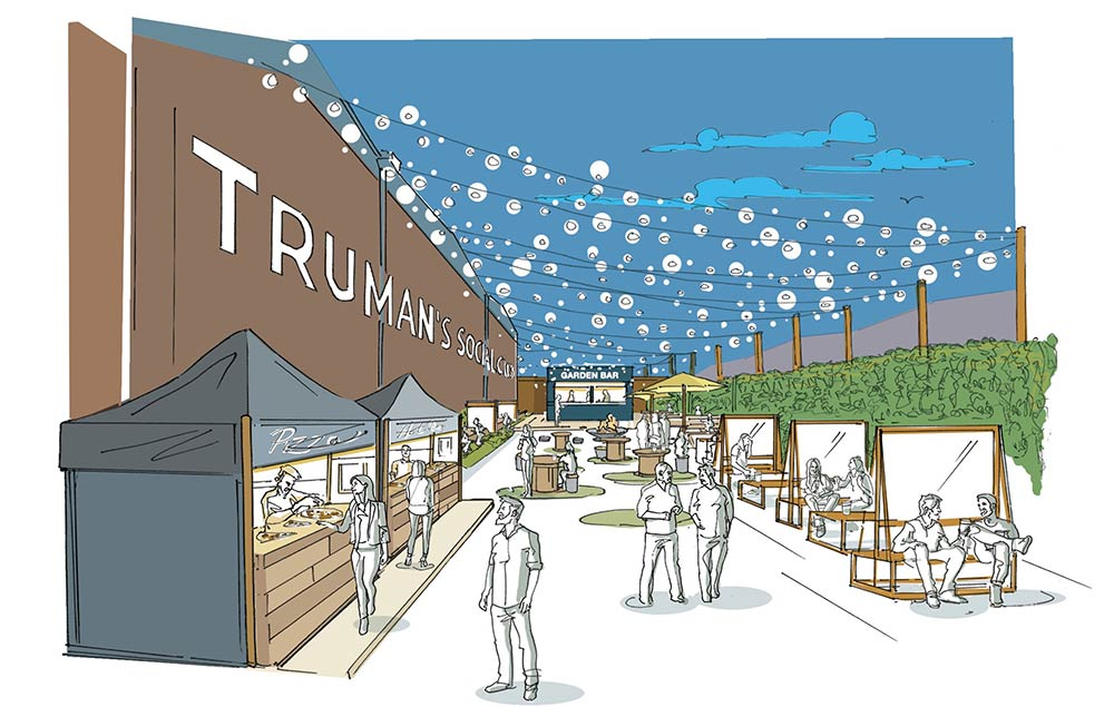 The Truman Social Club in Walthamstow and The Terrace at Alexandra Palace are two huge new beer gardens