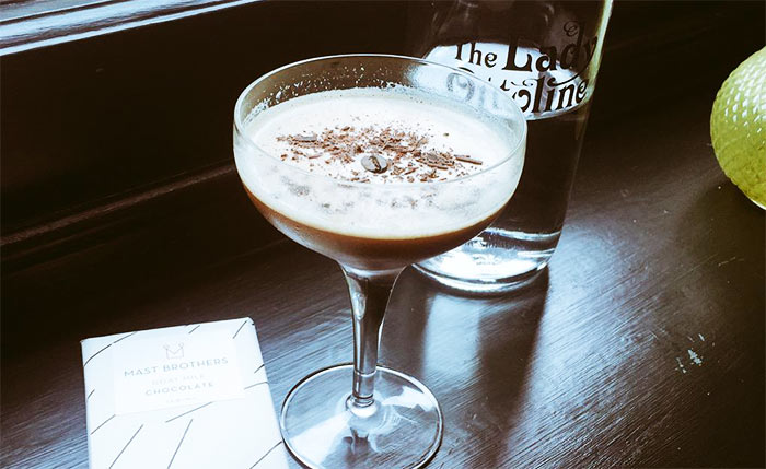 Mast Brothers martinis at the Lady Ottoline