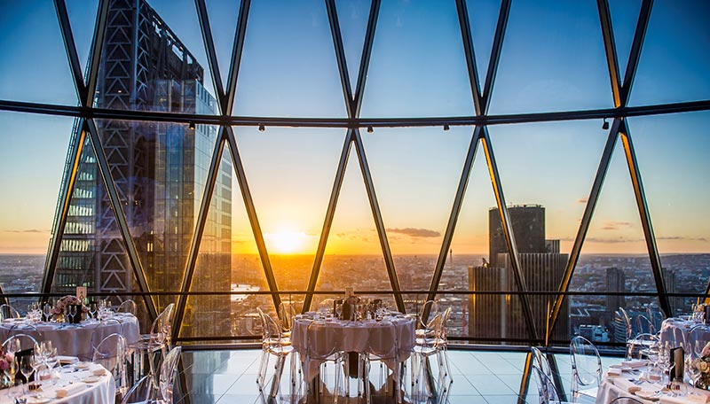 Seaside in the Sky popup at the Gherkin