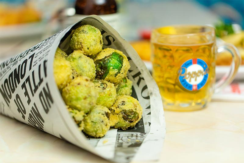 Deep-fried Brussel sprouts from Poppie's