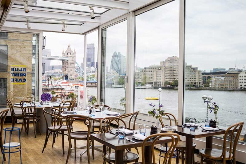 Londons best waterside restaurants hot dinners recommends blueprint malvernweather Images