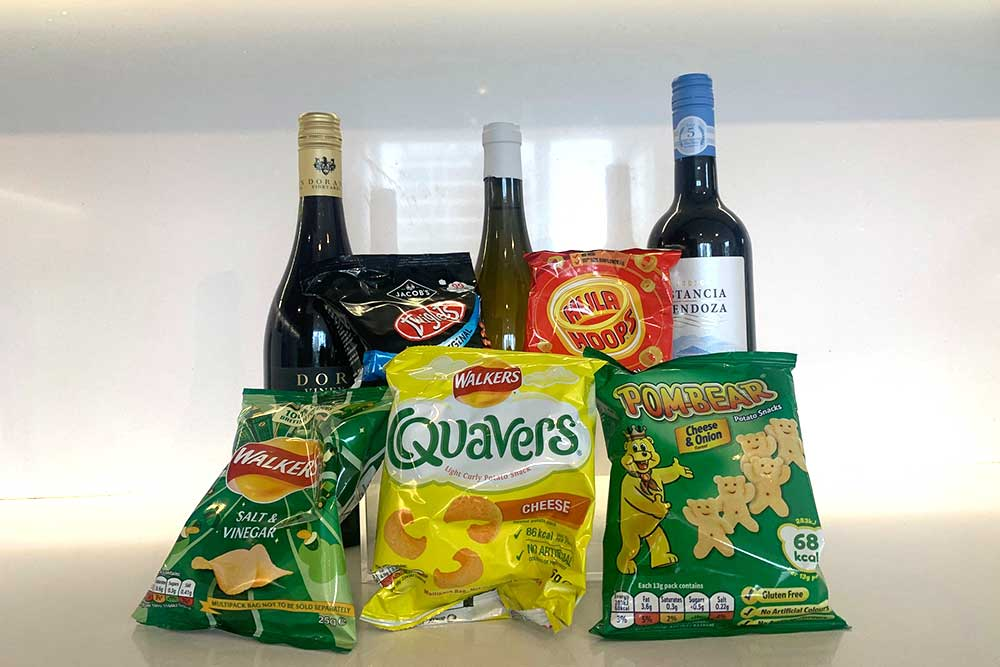 best crisps to eat with wine
