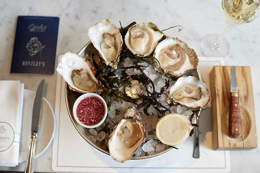 bentleys london for oysters