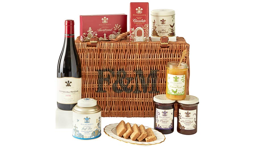 The Highgrove Christmas Basket from Fortnums