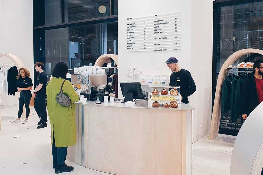 new ground cafe at selfridges