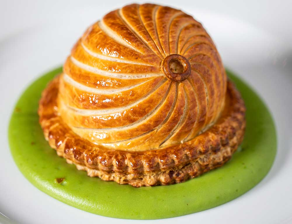 Potato, Comté & caramelised onion pie at Holborn Dining Room