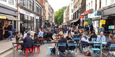 Central London's streets are reopening for alfresco dining in April
