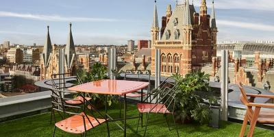 The new Standard Rooftop bar will have amazing views over St Pancras