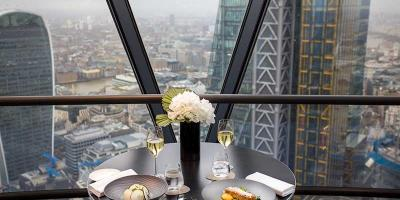 Get 15% off your lunch at new high rise restaurant Helix at the Gherkin