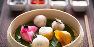 Enjoy complimentary champagne with your Dim Sum Platter at Bao Kitchen in Harrods (Fourth Floor)