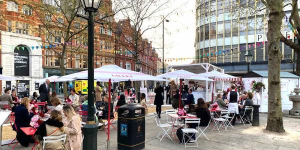 Colbert and The Botanist take over Sloane Square with alfresco crepes and pizza